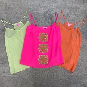 Trio of Lilly Pulitzer Cami Tops